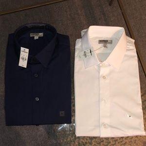 (2) NWT Express Slim 1MX Dress Shirt